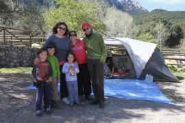 Las acampadas en Lluc caen un 75 por ciento en la primera Semana Santa de pago