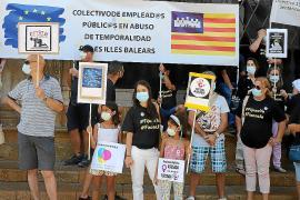 Protestas interinas en el pleno de Cort en contra del 'Icetazo'