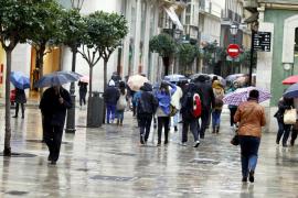 Un nuevo temporal traerá lluvias intensas a Baleares a partir del jueves