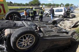 Herido grave un conductor de 84 años tras sufrir un aparatoso accidente en Sencelles