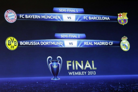 Bayern Múnich - Barcelona y Borussia -Real Madrid, semifinales de la Liga de Campeones