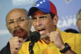 Capriles anuncia un calendario de movilizaciones  para reclamar el recuento «voto a voto»