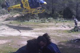 Rescatado un joven que sufrió un ataque epiléptico en el Castell d'Alaró