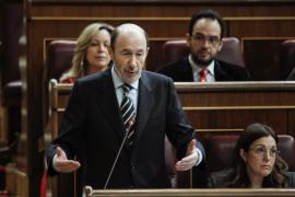 Rubalcaba, sobre una posible candidatura de Madina a las primarias: «El PSOE no está en eso»