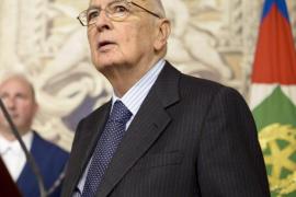 Napolitano, reelegido presidente de Italia ante la total parálisis del país