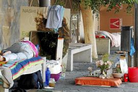 El número de personas sin hogar en Palma creció un 62 por ciento en 2012