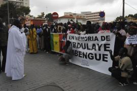 Sucesos Palma- Platja de Palma- manifestación senegalesa