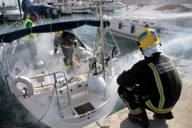 Simulacro de fuego a bordo