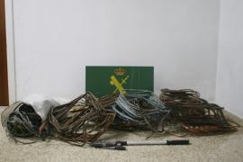 La Guardia Civil desmantela una banda que había robado al menos una tonelada de cobre