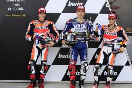 Lorenzo marca el mejor tiempo en Jerez en una calificación plagada de accidentes