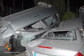 Espectacular accidente en la carretera de Sóller
