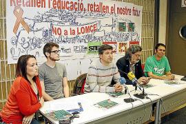 La comunidad educativa celebra hoy una jornada de huelga en respuesta a la LOMCE