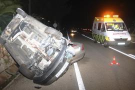 Hospitalizados dos conductores tras sufrir un accidente en la carretera de Sóller
