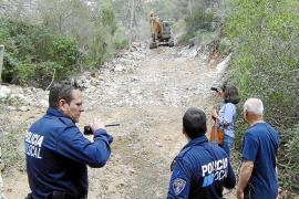 El Ajuntament paraliza la apertura de un camino en un pinar del Port d'Andratx