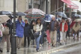 Mallorca y Menorca están en alerta  amarilla por lluvias y tormentas