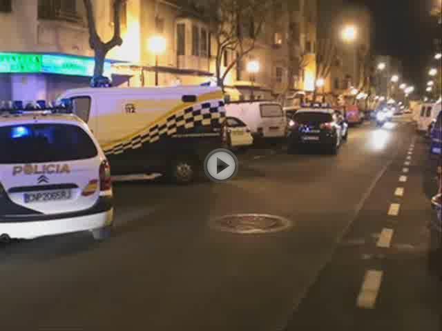 Un hombre de 32 años es apuñalado  en el abdomen en la calle Reyes Católicos de Palma