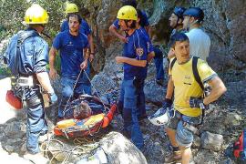 Rescatado un excursionista herido junto al Port des Canonge