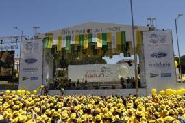 El amarillo 'ilusión' tiñe Madrid en el 75 aniversario de la ONCE