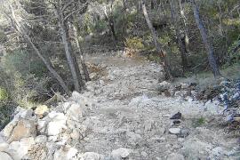 El GOB denuncia la reanudación de las obras de un camino en es Garrigó