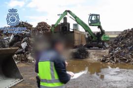 Varios detenidos en Balears en el marco de una operación contra el robo de metales