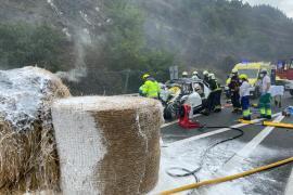 Dos personas fallecidas y una herida en un accidente de tráfico en Soraluze