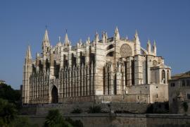 La catedral de Palma se incorpora al  programa de visitas a monumentos en restauración