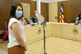 Aída Alcaraz, durante el juicio por acoso laboral contra el jefe de Policía Local de Sant Antoni