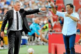 Carlo Ancelotti y Luis García Plaza