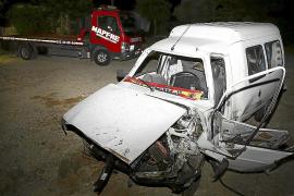 Dos heridos graves en un choque frontal en la carretera de Muro a Can Picafort