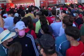 Colas en el estadio del Mallorca