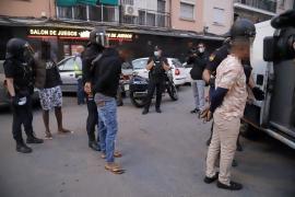 Diez detenidos en una operación contra el menudeo de drogas en Palma