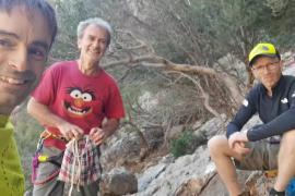 Fernando Simón, jornada de escalada en Mallorca con los hermanos Pou