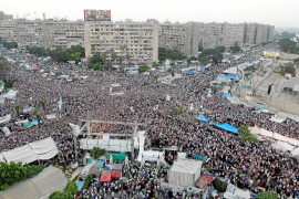 Supporters of ousted President Mohamed Morsi protest