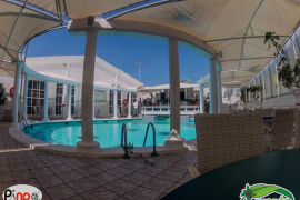 piscina de la discoteca dico Menta en Port d'Alcúdia