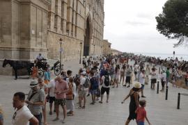 El turismo nacional ha superado al alemán este verano en Palma ciudad
