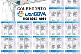 Calendario de Liga de Primera y Segunda