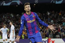 Piqué mantiene vivo al Barça en la Champions