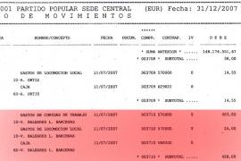 Al PP de Balears «no le consta» la presencia de Bárcenas en 2007