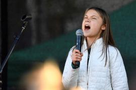 Greta Thunberg en manifestación contra la crisis climática