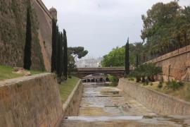 Emaya limpia el cauce de sa Riera entre el parque y el Paseo Marítimo