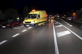Una mujer resulta herida muy grave  tras ser atropellada en la carretera de Sóller