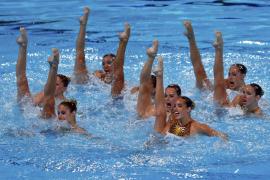 Marga Crespí se trae la plata en rutina técnica por equipos