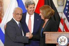 Israelíes y palestinos buscan un acuerdo final en los próximos nueve meses