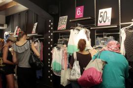 El 54% de los comerciantes de Mallorca mejora las ventas del primer mes de rebajas