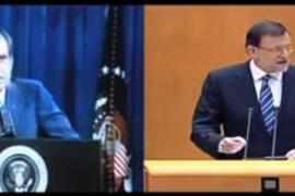 El PSOE compara en un vídeo a Rajoy con Nixon y el Watergate