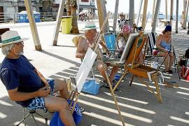 Éxito de participación en una nueva Trobada de Pintors en el Molinar