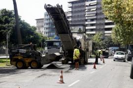 Cort continúa este lunes y martes  con su campaña de asfaltado de Palma