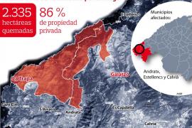 El Instituto Geológico advierte del aumento de riesgo de desprendimientos por el incendio
