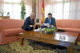 Rajoy y García-Margallo se reúnen en Son Sant Joan para hablar de Gibraltar