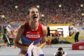 La histórica pertiguista Isinbayeva se retira en lo más alto del podio